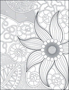 Adult coloring book page, coloring for grown-ups