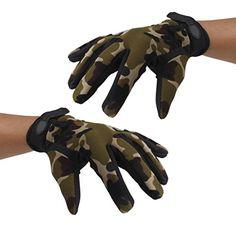 Gants de Doigts Pleins Homme Tactique Chasse Cyclisme: Caoutchouc matériau anti-dérapant sur la paume du gant pour une bonne prise en main.…