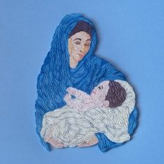 quilled Mary and Baby Jesus.  This is one of my favorites that I created for Christmas 2011.