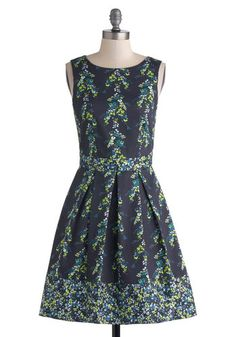 Teal Away Dress, #ModCloth $82.99. I would rather do anything other than clean my apartment, so pinning floral dresses it's what's up this Saturday night.