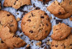 Amerikai csokoládédarabkás keksz Pavlova, Biscotti, Nutella, Muffin, Cookies, Breakfast, Cake, Desserts, Recipes
