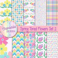 Spring Toned Flowers Set 2 - Chantahlia Design