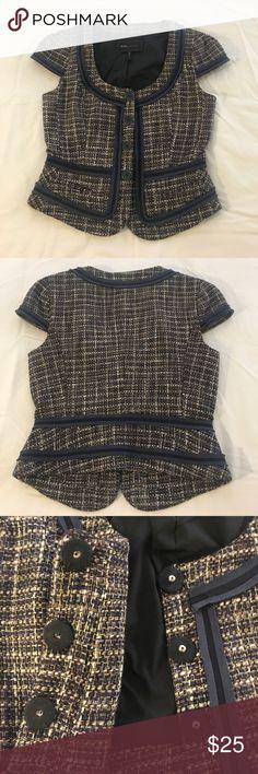 BCBGMaxAzria Blazer Short sleeve tweed-like blazer/jacket. They button are actually snaps inside. Dry clean. Good condition. BCBGMaxAzria Jackets & Coats Blazers