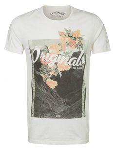 Jack & Jones - CREEK - Print T-shirt - white