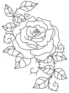 Intricate lines wind and twist together to form this unique rose design. Downloads as a PDF. Use pattern transfer paper to trace design for hand-stitching.
