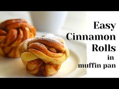 Easy Cinnamon rolls made in muffin pan.This recipe will help you make soft and fluffy cinnamon rolls with six basic ingeredients in less than two hours. Cinnamon Knots Recipe, Quick Cinnamon Rolls, Cinnamon Bread, Homemade Pita Bread, Homemade Croissants, Fluffy Dinner Rolls, Dinner Rolls Recipe, Homemade Desserts, Baking Desserts