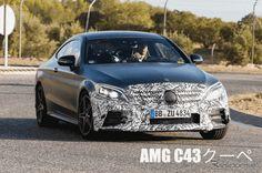 【新車スクープ】メルセデスAMGC43クーペ改良新型、直6搭載で馬力は370馬力オーバー? 写真・画像