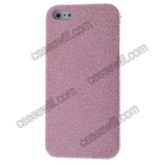 Magnificent Glittery Evening Dress Pattern Faux Leather Coated Back Case Cover for iPhone 5 - Pink US$3.99