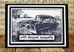 Darkroom Door 'Old Car' DDPS016 Photo Stamp. Card created by Teresa Abajo.