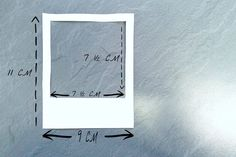 Polaroid measurements in cm | DIY | decor | home |   http://laveillela.blogspot.com/