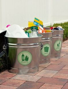 Recycle Bins For Home Earth Day Recycle Labels For Your Home Office Recycling Center