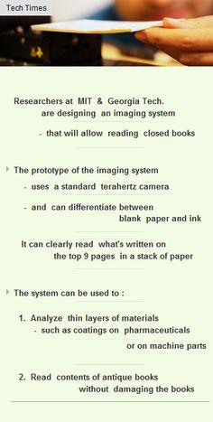 Researchrs create prototype to read closed books via terahertz imaging #Funding #Startup #VC http://arzillion.com/S/fBE4f3