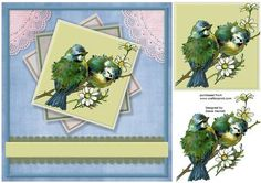 Beautiful Birds With Lace on Craftsuprint designed by Diane Hannah - Beautiful Birds With Lace. Includes decoupage. - Now available for download!