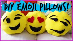 Easy DIY No Sew Emoji Pillows || #DIYwithPXB