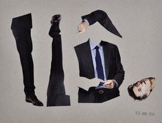 This Suit Fits | Collage on Cardboard, 20,9 x 16,0, 2015 Unique  € 260,– excl. shipping  TO BUY: send an email to wegerer.roland@gmx.at The work comes with its certificate of authenticity signed by the artist. #RolandWegerer #instaSale #instaShop #forSale #product #sales #shopsmall #shopping #art #contemporary #collage