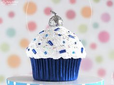 Items similar to Hanukkah Cupcake Ornament - mini size - great for a hostess gift on Etsy Feliz Hanukkah, Hanukkah Food, Hanukkah Decorations, Hanukkah Gifts, Christmas Hanukkah, Hannukah, Happy Hanukkah, Christmas Mood, Hanukkah Celebration