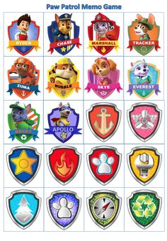 graphic regarding Paw Patrol Badges Printable named 12 Least difficult Paw patrol badge pictures Paw patrol celebration, Paw