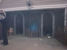 I was looking through some pics of my 2010 garage haunt while starting to plan for this year.  I thought you might enjoy some of them...FacadeEntranceFirst Hallway with a rotating light at the endSpider hallway with podsSwamp hallway......leading into the skull roomSkull roomSkulls close upI also had a snake room and a mummy room, but the pics didn't come out very well.