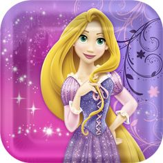 Let Your Hair Down with Disney Tangled Sparkle Party Decorations!Your little princess will love the Disney Tangled Sparkle birthday theme for her next birthday bash!  Birthday decorations feature the beautiful Rapunzel and her golden blonde locks with a color scheme of deep pinks and soft purples.Gather your princesses with the Tangled Sparkle invitation/thank you combo pack and hand out fun favors such as party blowouts, stickers, rings and award ribbons in the themed loot bags or plastic…