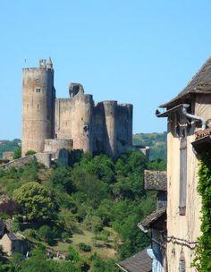 Castle in Najac - France