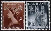 Cook Islands Queen Elizabeth II 1953 Coronation Set Fine Mint SG 160 1 Scott 145 6 Other Coronation Stamps HERE
