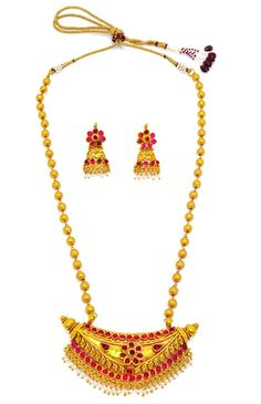 Golden colour and attractive pearl earring. 1 Gram Gold Jewellery, Temple Jewellery, Gold Jewelry, Necklace Set, Pearl Necklace, Gold Plated Necklace, Golden Color, Fashion Jewellery, Ethnic Jewelry