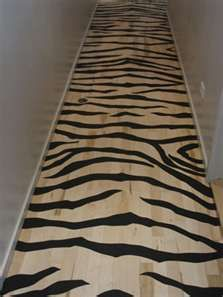 Zebra floors... My future craft room/ woman cave