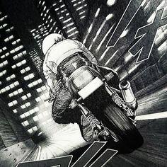 #ライダー#バイク#バイク乗り#キリン#カタナ 「ひとり・・・」 本来、バイク乗りは孤独なのです❗ (⌒‐⌒)