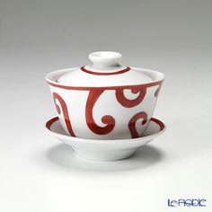エルメス(HERMES)ガダルキヴィールコレクションアジアティックティーカップ(ふた、ソーサー付)130ml