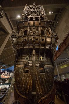 Sunken Warship Vasa- Stockholm, Sweden: November 2015. 17th Flagship on the Swedish Fleet, Sunk in 1628 during the maiden voyage. Recovered in 1961 and preserved.