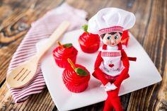 A+ Apple Cupcakes from The Elf on the Shelf | Teacher Appreciation Week | Teacher Gift Ideas | Mrs. Claus' Kitchen Blog