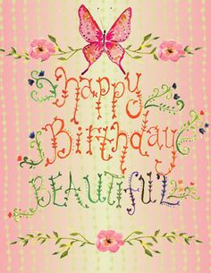 birthday beautiful | CC-96 Happy Birthday Beautiful Butterfly Folded Note | Catalog ...