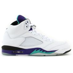 Air Jordan Retro 5 Grape 2013 Release Confirmed ❤ liked on Polyvore featuring shoes, jordans, sneakers and grape
