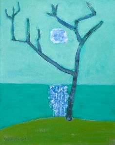 Milton AveryBare Tree Green Sea Dimensions:...