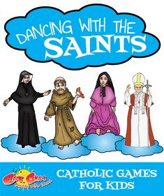 Looking for fun Catholic games to play with kids your youth group, birthday party, or school retreat? Dancing with the Saints is always a highlight, especially for the younger kids! Catholic Schools Week, Catholic Religious Education, Catholic Catechism, Catholic Crafts, Catholic Religion, Catholic Kids, Religion Activities, Teaching Religion, Youth Group Activities