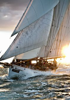 """J P Morgan Asset Management Round the Island Race 2013,""""Coral"""" heads off the start line"""