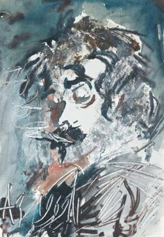 Anatoly Zverev, Self-Portrait | The Member Of 'Bitza Exhibition' ~ 15 September 1974 exhibition was dispersed; picture kinked bulldozed and razed to the ground.