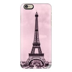 The Eiffel tower, Paris, France - in pink - iPhone 6s Case,iPhone 6... ($40) ❤ liked on Polyvore featuring accessories, tech accessories, phone cases, cases, cell phone, iphone case, slim iphone case, clear iphone cases, pink iphone case and iphone cases