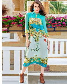 Buy Multi Multicoloured Georgette Kurta for women Online  At Flash Sale   Styletag, India