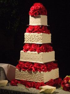 Red And White Wedding Cakes 17 Superb Gold wedding cakes gallery
