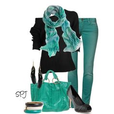 Turquoise Nights, created by s-p-j on Polyvore