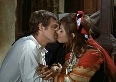 Jean-Paul Belmondo and Claudia Cardinale on the set of Cartouche directed by Philippe de Broca, 1962