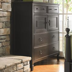 2-door hardwood chest in dusk with 4 English dovetail drawers.   Product: Chest    Construction Material: Mapl...