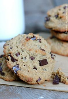 """Nut Free """"Peanut"""" Butter Chocolate Chip Cookies - Danielle Walker's Against All Grain"""