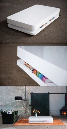 table-basse-blanche-design