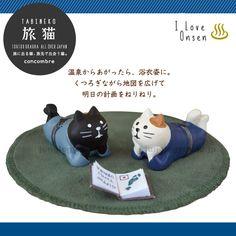 デコレ(decole)コンコンブル(concombre)旅猫/宿猫:黒猫と三毛猫のセット