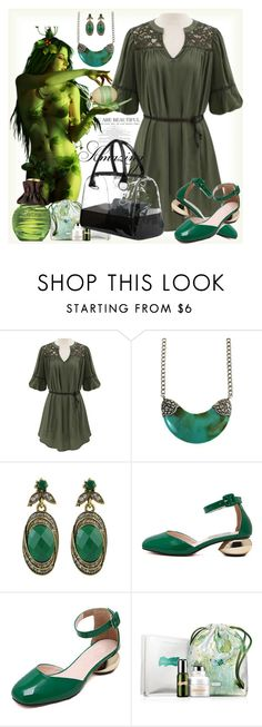 """""""Green muse"""" by ane-twist ❤ liked on Polyvore featuring Champion, Avon, La Mer, Spring, outfit and polyvoreeditoria"""