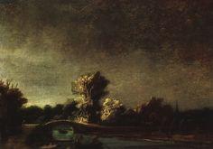 rembrandt landscape paintings   Landscape with a Stone Bridge