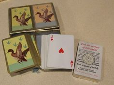 Deck of Cards, Congress Playing Cards, Duck Playing Cards, Vintage Deck Of Cards, 2 Vintage Poker Decks of Cards, Man Cave Gift, Fun Gift by BeautyMeetsTheEye on Etsy