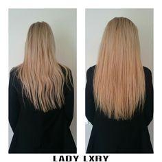 Door onszelf ontkleurd haar, 2 maal ontkleurd en het is mooi licht geworden! Blond kan ook bij Lady Lxry! Bestellen kan via www.ladylxryhaar.com